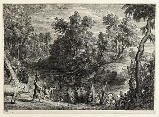 Paysage avec un étang d'après Rubens. Numéro d'object: PP-GDUT08322.