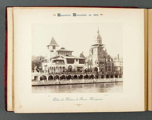 Palais des nations, la Bosnie-Herzégovine. Date de création: 1900. Numéro d'object: PP-PHDUT00045(18).
