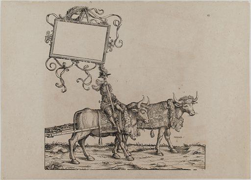 Le Triomphe de l'Empereur Maximilien Ier: Vingt-cinquième planche, la musique. Date de création: 1512–1519. Numéro d'object: PP-GDUT11063.