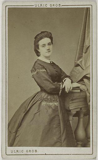 Portrait de Blanche Gabrielle Damis (actrice au théâtre du Vaudeville et du Palais-Royal). Date de création: 1867. Numéro d'object: CARPH048948.