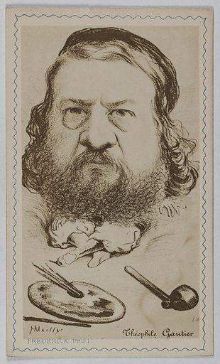 Caricature de Théophile Gautier (1811–1872) (écrivain, poète). Date de création: avant 1872. Numéro d'object: CARPH051005.