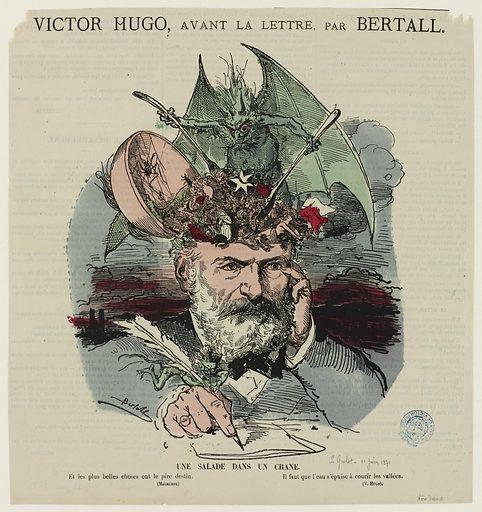 Victor Hugo, avant la lettre. Une salade dans un crâne. Date de création: 1871. Numéro d'object: MVHPE2017.0.0178.06.
