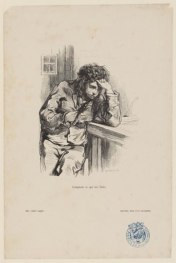 [Le dernier jour d'un condamné, chapitre VIII] Comptons ce qui me reste. Date de création: vers 1855. Numéro d'object: MVHPE2017.0.2351.02.