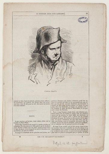 [Le Dernier jour d'un Condamé] [Claude Gueux] Pages 33 à 48 de l'édition Hetzel. Date de création: vers 1855. Numéro d'object: MVHPE2017.0.2562.