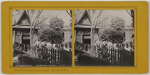 Exposition universelle de 1900. L'éléphant blanc (place du Trocadéro, section Indo-Chine), 16ème arrondissement, Paris. Date de création: 1900. Numéro d'object: CARPH024544.