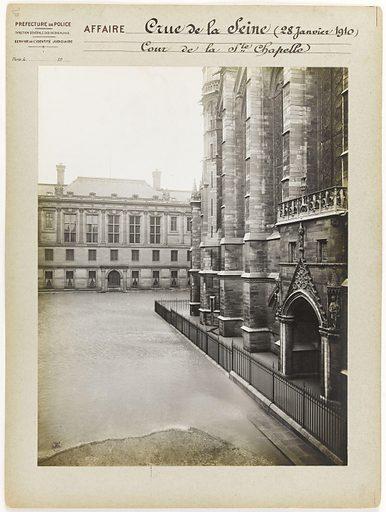 Cour de la Ste Chapelle during the Seine flood, 1st arrondissement, Paris