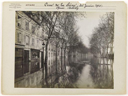 Quai Debilly during the Seine flood, 16th arrondissement, Paris