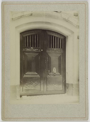 Porte cochère, Hôtel appartenant à M Adolphe Jullien (1890), 10 rue Aubriot, 4ème arrondissement, Paris. Numéro d'object: CARPH061054.