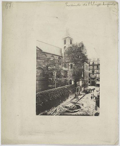 L'enceinte de Philippe-Auguste. Eglise des Blancs-Manteaux, fouilles de l'ancienne tour de Philippe Auguste. 4ème arrondissement, Paris. Numéro d'object: CARPH061055.