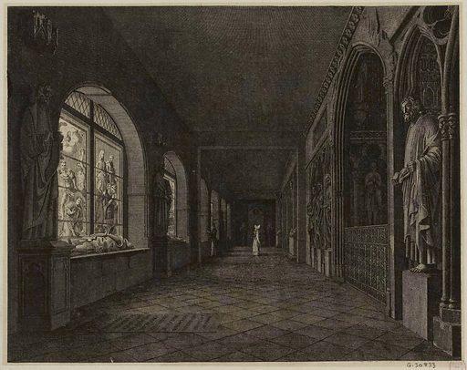 Vue du cloître des Petits-Augustins. Numéro d'object: CARG030833.
