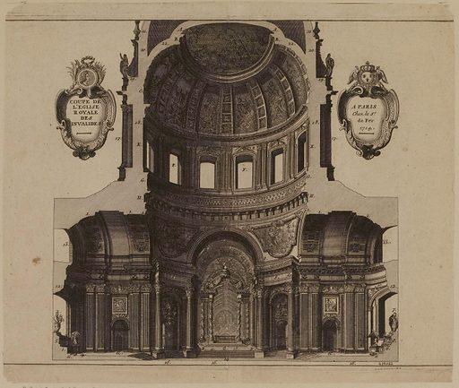 Coupe de l'église royale des. Invalides. Numéro d'object: CARG039062.
