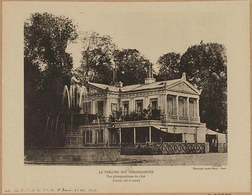 Le théâtre des Ambassadeurs. Vue photographique de 1846. Date de création: 1846. Numéro d'object: CARG022987.