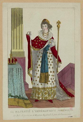 Sa majesté l'impératrice Joséphine. En robe de cérémonie et manteau impérial le jour du couronnement. Numéro d'object: CARG041878.