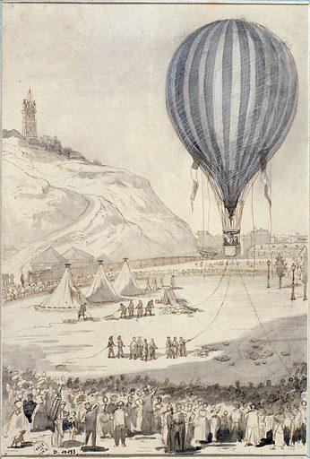 Le ballon captif d'observation à Montmartre. Numéro d'object: CARD10193.