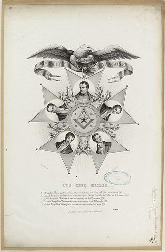 Les cinq oncles. Date de création: vers 1848. Numéro d'object: CARG040518.