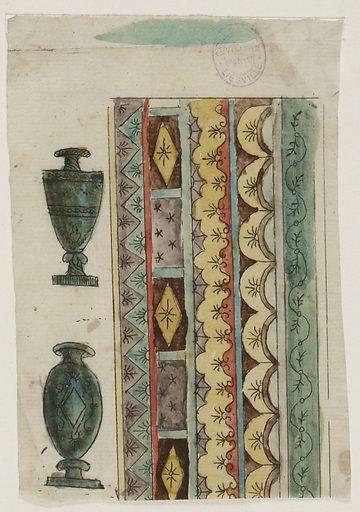 Ornamental model inspired by Greek vases