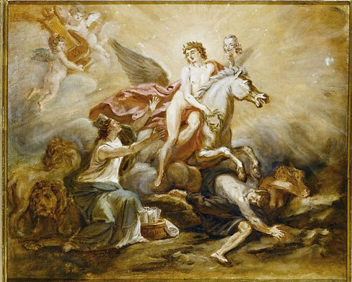Allegory to the glory of Voltaire
