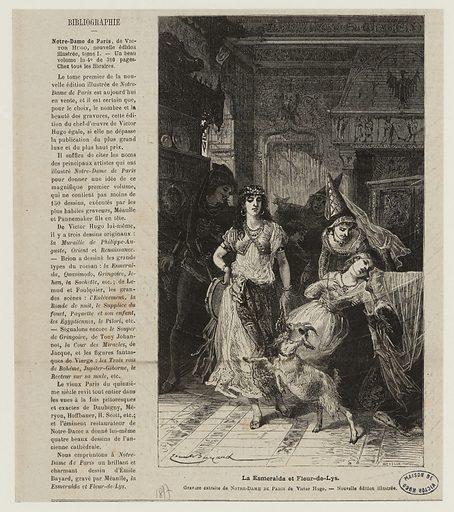 [Notre-Dame de Paris, Livre huitième.] La Esmeralda chassée. Date de création: vers 1877. Numéro d'object: MVHPE2017.0.2173.01.