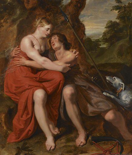 Venus and Adonis. Date: 1629. Object ID: SK-A-2961.