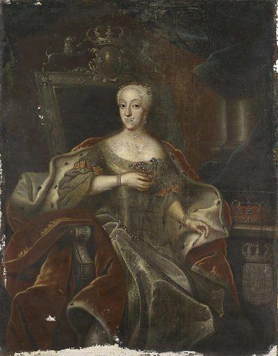 Portrait of Princess Charlotte Amalie, Daughter of Frederick IV, King of Denmark. Origin: Denmark. Date: 1755 – 1765. Object ID: SK-A-978.