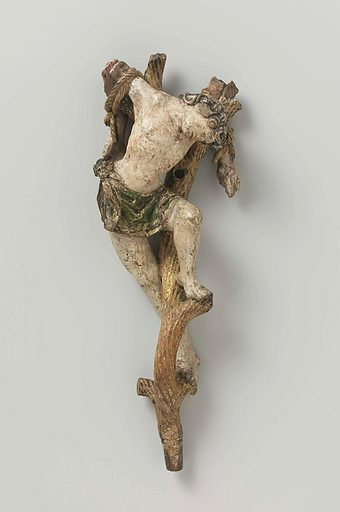 Dismas, the Penitent Thief, from a Calvary. Origin: Antwerp. Date: c 1530. Object ID: BK-16547-A.