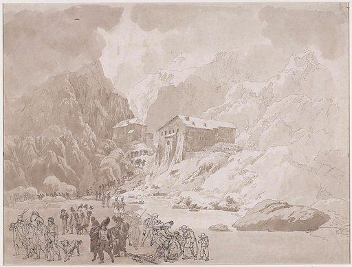 Soldiers crossing on St Bernard. Date: 1800 – 1824. Object ID: RP-T-1953-38.