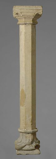 Stone column, from the Lanz collection. Date: c 1250. Object ID: BK-15334-B.