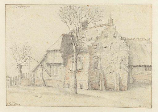 Farmhouse in Wijnegem. Date: 1640. Object ID: RP-T-1905-74.