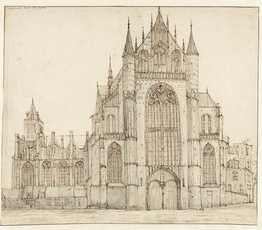 Highland church in Leiden. Date: 1648 – 1698. Object ID: RP-T-1891-A-2477.