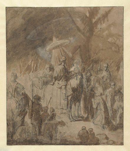 Offering of Abigail. Origin: Amsterdam. Date: c 1635 – c 1640. Object ID: RP-T-1956-4.