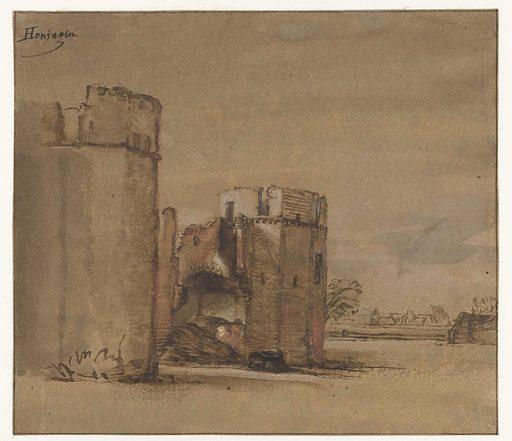 View of Kasteel Honingen near Rotterdam. Origin: Rotterdam. Date: c 1648 – c 1652. Object ID: RP-T-1888-A-1768.