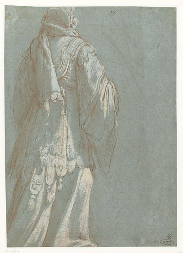 Back figure of a priest. Date: 1594 – 1615. Object ID: RP-T-1964-87(V).