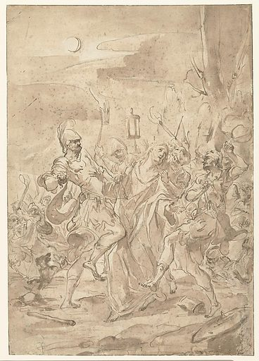 The capture of Christ. Date: 1666 – 1727. Object ID: RP-T-1970-52.
