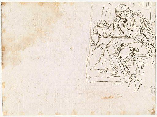 Maria Magdalena as boetelinge. Date: 1680 – 1685. Object ID: RP-T-1955-176(V).