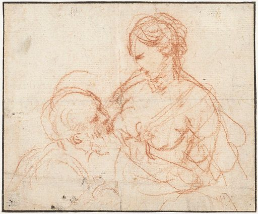 Study for Cimon and Pero. Date: 1616 – 1620. Object ID: RP-T-1955-122.