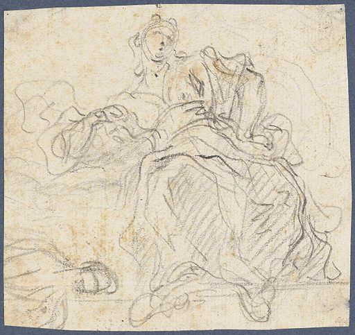 Seated female figure. Date: 1667 – 1725. Object ID: RP-T-1958-91(R).