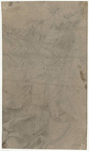 Study of a floating angel. Date: 1613 – 1623. Object ID: RP-T-1958-59(V).