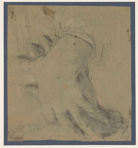 Two overlapping male hands. Date: 1650 – 1670. Object ID: RP-T-1958-75(R).