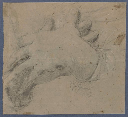 Sketch sheet with two figures. Date: 1650 – 1670. Object ID: RP-T-1958-75(V).