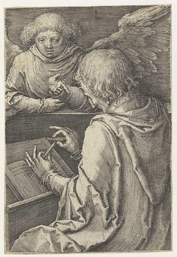 The evangelist Matthew. Origin: Low Countries. Date: 1518. Object ID: RP-P-OB-1681.
