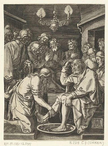 Christ washes the feet of apostles. Date: 1656 – 1699. Object ID: RP-P-OB-12.044.