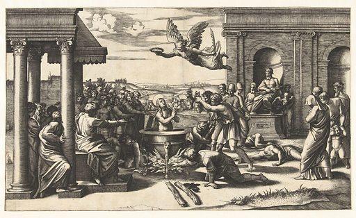 Martyrdom of Saint Cecilia. Origin: Italy. Date: 1520 – 1525. Object ID: RP-P-OB-12.122.