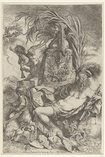 The genius of Giovanni Benedetto Castiglione. Origin: Rome. Date: 1647 – 1648. Object ID: RP-P-OB-12.201.
