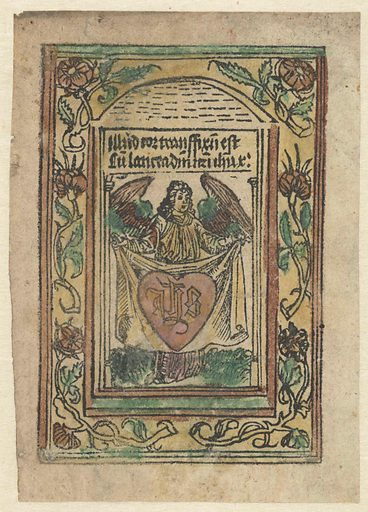 Angel with sacred heart. Origin: Low Countries. Date: 1490 – 1510. Object ID: RP-P-1961-2.