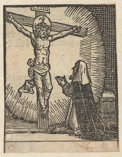 Appearance of Christ to nun. Origin: Low Countries. Date: 1490 – 1500. Object ID: RP-P-OB-1984.