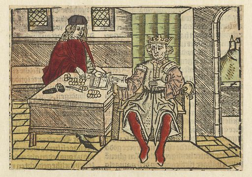 Parable of the rich man and the steward. Origin: Low Countries. Date: 1485 – 1491. Object ID: RP-P-1961-732.