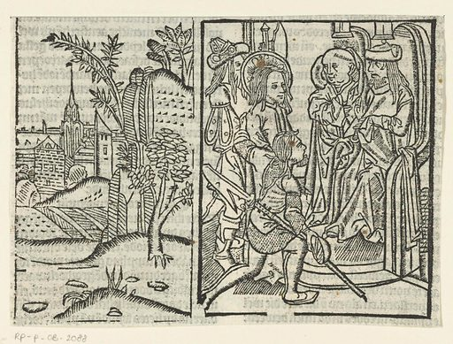 Christ before Caiaphas. Origin: Low Countries. Date: 1503. Object ID: RP-P-OB-2088.