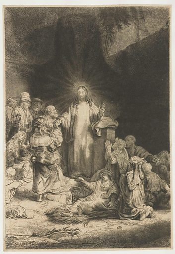 The Hundred Guilder Print: the central piece with Christ preaching. Date: 1775 – 1800. Object ID: RP-P-OB-605.