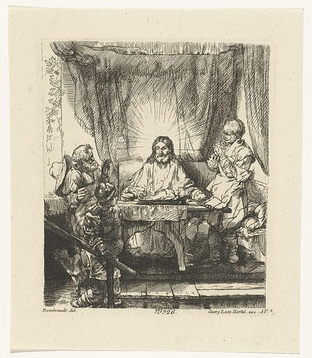 Christ at Emmaus: the larger plate. Origin: Augsburg. Date: 1750 – 1778. Object ID: RP-P-OB-12.319.