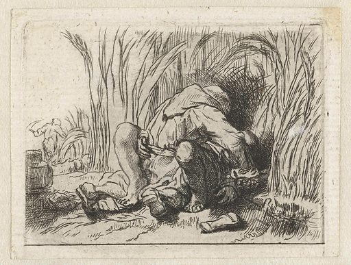 The monk in the cornfield. Date: 1819. Object ID: RP-P-1961-1095.